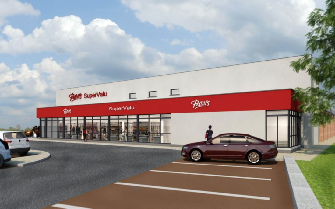 Visual Front Elevation-Pettitts Supervalu Athy (1)
